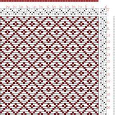 Hand Weaving Draft: Figure 645, A Handbook of Weaves by G. H. Oelsner, 4S, 4T - Handweaving.net Hand Weaving and Draft Archive