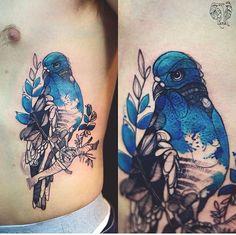 Dzo Lama - Joanna Swirska pigeon tattoo