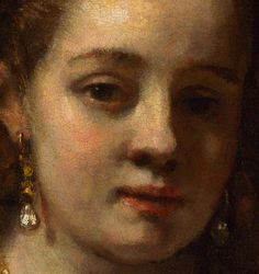 Rembrandt 'Portrait of Hendrickje Stofells'(detail) c.1654-56 Oil on canvas. National Gallery, London