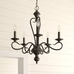 Maiwenn 6-Light Chandelier & Reviews | Birch Lane Chandelier For Sale, 5 Light Chandelier, Swag Light, Farmhouse Chandelier, Trellis Rug, Wagon Wheel Chandelier, Candelabra Bulbs, Traditional Furniture, Living Room Lighting