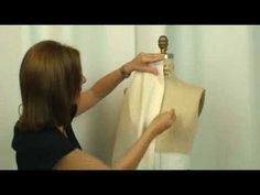 Fashion Unfolded: How-to Basic Draping Design- Part 1 - susaneliascouture - you tube tutorial draping
