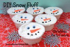 Christmas Party Favors - Snowman Snow Dough
