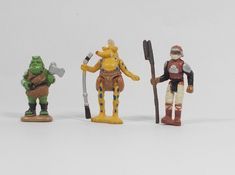 Star Wars - Micro Figures X 3 - Micro Machines - Galoob Classic Toys, Star Wars, Stars, Fictional Characters, Vintage, Sterne, Starwars, Vintage Comics, Primitive
