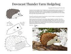Printable Hedgehog ornament from Downeast Thunder Farm