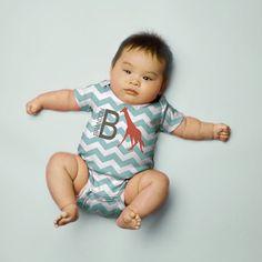 Chevron Baby Shirt, Personalized Red Giraffe T-shirt, Infant Snap-shirt, Custom Chevron Creeper, Baby Boy Clothing on Etsy, 77,82zł