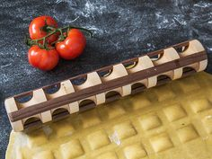 Repast's ravioli rolling pins, discovered by The Grommet, are handcrafted in the USA and designed by a food-loving engineer. Roll yourself some artisan ravioli.