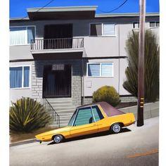 Thorsten Hasenkamm Environment Concept, Environment Design, Yellow Car, Funny Illustration, Animation Background, Car Drawings, Visual Development, Environmental Art, Cartoon Pics