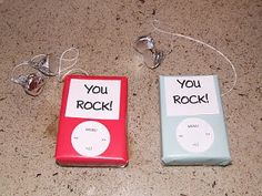 """""""You Rock"""" iPod Valentines - so cute!"""