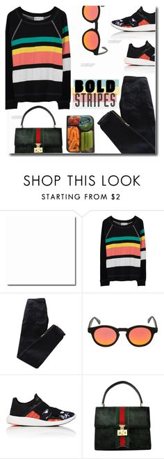 """Big, Bold Stripes"" by polivorka-polivorochka ❤ liked on Polyvore featuring Wildfox, Pierre Balmain, Italia Independent, adidas, Gucci and BoldStripes"