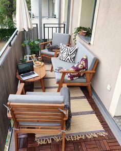 These 4 Living Room Trends for 2019 – Modells. Condo Balcony, Balcony Chairs, Apartment Balcony Decorating, Deck Decorating, Apartment Balconies, Small Balcony Design, Small Balcony Decor, Balcony Ideas, Narrow Balcony