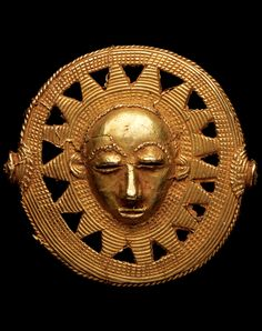 Africa | Jewellery bead or clothing ornament from the Akan people of the Ivory Coast | Gold alloy; 17.3k | Est. 4,000 - 6,000CHF