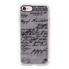 Vintage Old Typography Handwritten Black and White Paper Retro 096 -... ($40) ❤ liked on Polyvore featuring accessories, tech accessories, iphone case, iphone cases, iphone cover case, vintage iphone case, slim iphone case and retro iphone ca