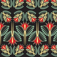artdeco_1forsf fabric by sophie_buttons on Spoonflower - custom fabric