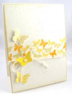 This butterfly card by Dana W. for PTI's March Hop is so light and airy it's ready to take flight, love it!