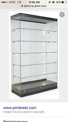 stand up display case