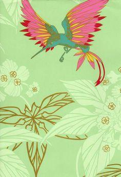 Osborne and Little |  'Tara' Grove Garden Wallpaper