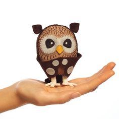 DIY Owl Hand-Stitching Kit Simply cut the pattern and fabric inside and stitch this cute owl together following the step-by-step directions included. Great for any crafty adult or competent young stit