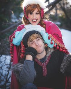 Pin for Later: 50+ Adorable Disney Couples Costumes Anna and Kristoff