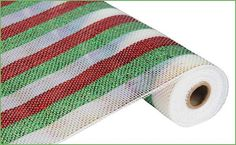 Deluxe White Lime Green Red Stripe RE1038K5 Poly by wreathsbyrobin See more at: https://www.etsy.com/shop/wreathsbyrobin