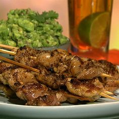 The Chew | Recipe  | Michael Symon's Lime And Jalapeno Chicken Skewers With Guacamole