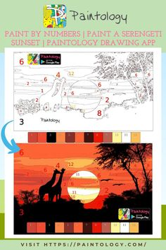 Sunsets are a great way to get into painting since they don't require much technical competence in the use of brush or stylus. However, there are a few things to keep in mind when doing this kind of painting. This paint by numbers painting of the Serengeti plains is a great way to get into painting and drawing. If you use the Paintology app on your phone or tablet, there are some things to keep in mind. #paintbynumbers #freepaintbynumbers #digitaldrawing #simplepainting #Digitalpainting #art