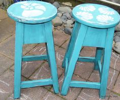 diy beachy barstools