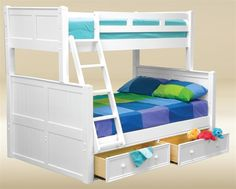 Are you looking for the Dillon blue twin full bunk bed for kids room. Browsing for quality navy blue bunk bed with under bed trundle chest youth bedroom. White Bunk Beds, Bunk Beds With Stairs, Kids Bunk Beds, Loft Beds, Twin Full Bunk Bed, Full Bed, Captains Bed, Bunk Bed Designs, Bed Slats