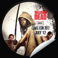 The Walking Dead @Comic-Con. Great image! Michonne n her Pet Walkers.