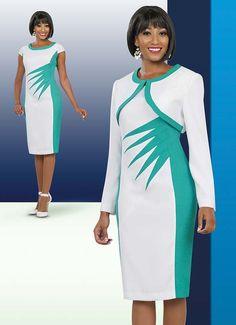 Ben Marc Executive 11517 Womens Dress / Jacket Set With Bold Design