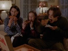 Only in Stars Hollow would a daughter be comfortable having a movie night with her mother and boyfriend.