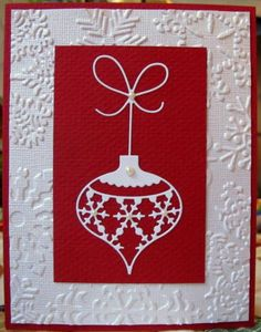 Wow...striking! Nother like a striking red paired with true white. Who wouldn't love to open this card??
