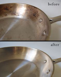 How to clean burnt stainless steel pots and pans www.acleanbee.com