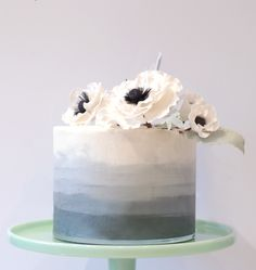 gray ombre 2019 gray ombre The post gray ombre 2019 appeared first on Birthday ideas. White Birthday Cakes, Birthday Cakes For Men, Birthday Ideas, Pretty Cakes, Beautiful Cakes, Cake Design For Men, Watercolor Cake, Cake Pictures, Cake Decorating Techniques