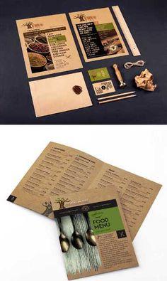 a collection of 30 creative brochure designs for restaurant masbadar contoh flyer