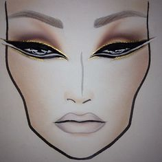 gorgeous face chart <3