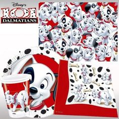 101 dalmations party   101 Dalmatians Party Pack For 8