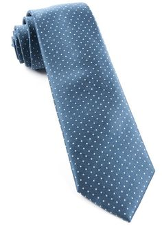 MINI DOTS TIES - SLATE BLUE | Ties, Bow Ties, and Pocket Squares | The Tie Bar