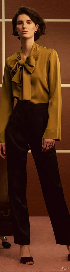 ON-TREND BSLLondon Loves a pussy bow blouse - Fall 2017 RTW Khaite