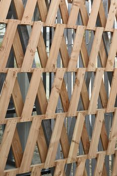 Image 19 of 27 from gallery of Reconstructed Past / MABIRE REICH Architectes. Photograph by Guillaume Satre Cladding Panels, Wood Cladding, Wood Architecture, Architecture Details, Concrete Fence Wall, Outdoor Wood Burner, Palette Deco, Wood Facade, Brick Arch