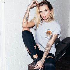 Baller Tee // Grey // £25 - Modelled By @courtneylloydtattoos - Also available in White. We Ship Worldwide!! www.stagclothing.com #stagclothing #standtallamongstgiants #staghype #standtall #indie #clothing #brand #fashion #style #menswear #streetwear #urbanfashion #instabrand #ootd #courtneylloyd #fblogger #fashionbrand #fashionblogger #altmodel #oxford #apparel #streetstyle