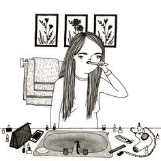 We asked Baltimore-based illustrator Mai Ly Degnan some questions about her work and she answered with illustrations. See the whole interview on ignant.de...