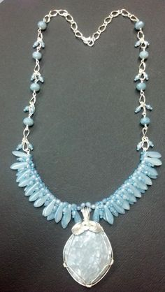 - Jewelry creation by kimberly newman Beaded Necklaces, Beaded Jewelry, Jewelry Patterns, Jewelry Ideas, Bead Shop, Angel Wings, Bead Weaving, Creative Design, Turquoise Necklace