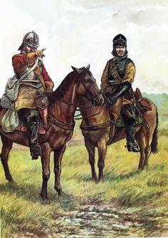 Parliamentary cavalry on patrol, English Civil War