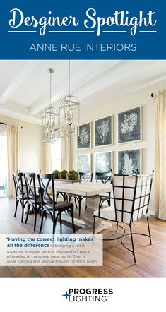 We're shining our Designer Spotlight on Anne of Anne Rue Interiors! Anne Rue Interiors is Central Florida's premier design firm specializing in high-end residential, senior housing, and turnkey vacation home interior design as well as model home merchandising. Anne has been the face of inspired living spaces for nearly 20 years. Her work and passion go hand-in-hand as she and her team focus on the simplification of life through design.