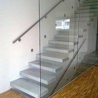 escalera de cemento alisado