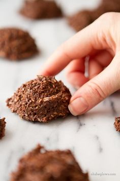 No-Bake Chocolate Macaroons | Oh She Glows | #vegan #recipe | I'm going to try these substituting unsweetened applesauce for the oil, and using 1/3 less sweetener. Fingers crossed! ~Ellen