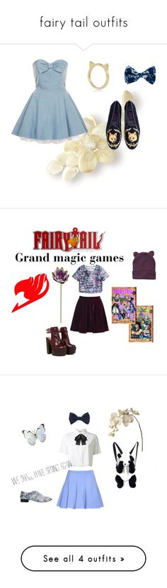 """""""fairy tail outfits"""" by fandompenguin ❤ liked on Polyvore featuring Topshop, River Island, Pieces, H&M, T By Alexander Wang, Yves Saint Laurent, Forever 21, Sia, Repetto and Au Jour Le Jour"""