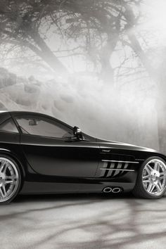 ♂ Luxury car #vehicle Black brabus-mclaren-slr