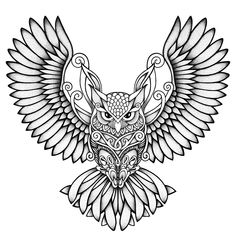 - Your dream wedding and venue organization, Your dream wedding and venue organization Owl Tattoo Drawings, Art Drawings Sketches, Tattoo Sketches, Tattoo Dotwork, Mandala Tattoo, Owl Tattoo Design, Tattoo Designs, Unique Tattoos, Small Tattoos