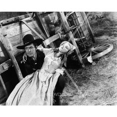 awesome Johnny Mack Brown Louise Stanley western film scene Oregon Trail 4481-13